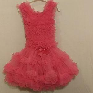 18M Hot Pink Ruffle dress